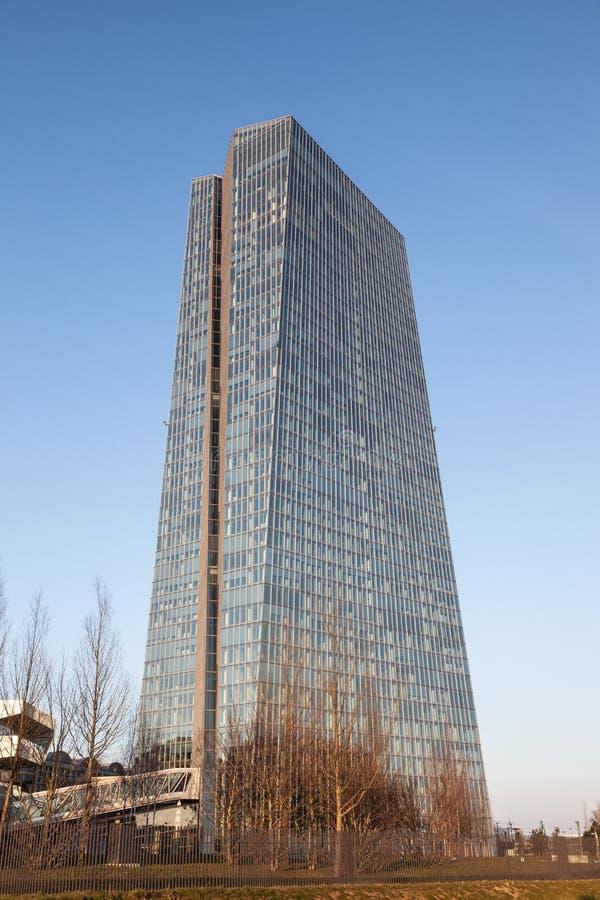 新的欧洲央行在法兰克福 免版税库存图片