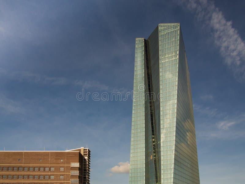 新的欧洲央行总部,法兰克福, 库存图片