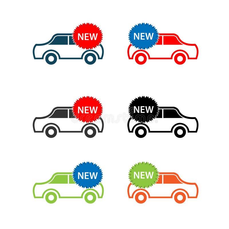 新的汽车象集合,平的设计 汽车象集合 皇族释放例证