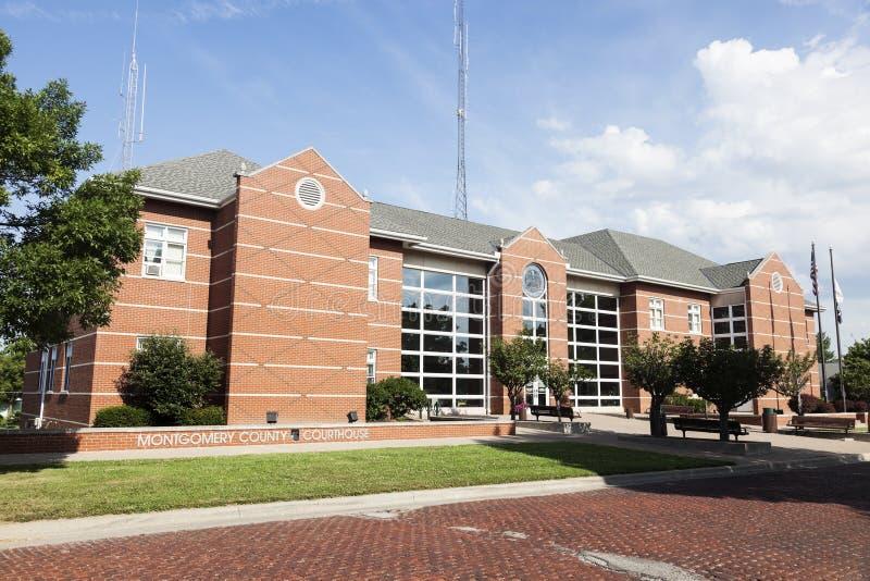 新的法院大楼在Hillsboro,蒙哥马利郡 免版税库存图片