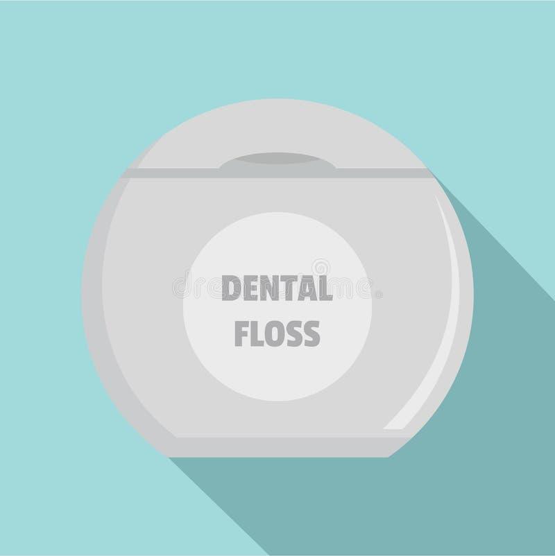 新的牙线象,平的样式 库存例证