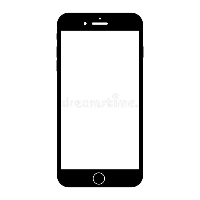 新的现代白色智能手机相似与正iphone 8 向量例证