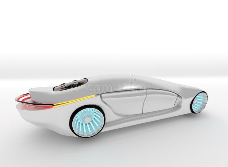 新的电概念汽车或原型 向量例证