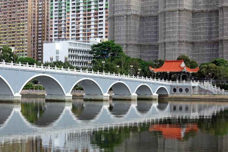 新的疆土在香港 库存照片
