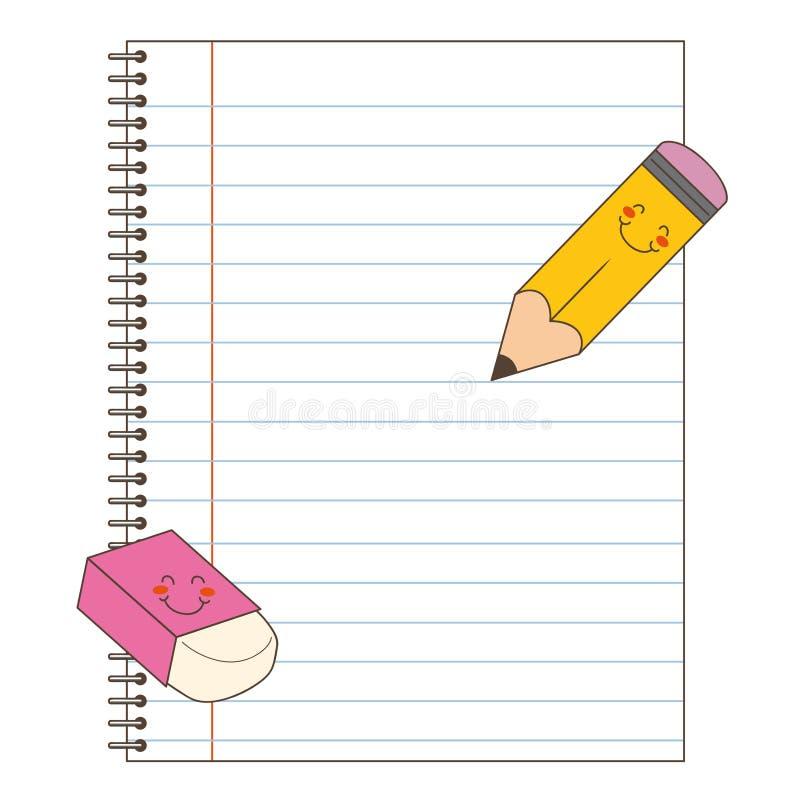 新的笔记本 向量例证