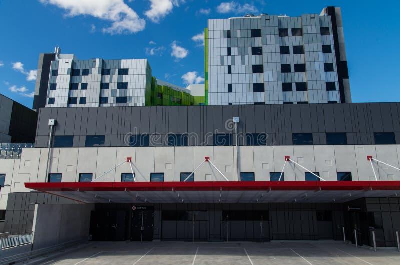 新的箱子小山医院 库存照片