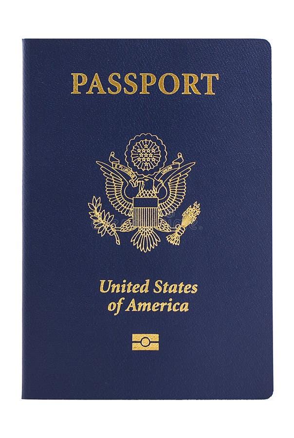 新的美国护照 库存图片