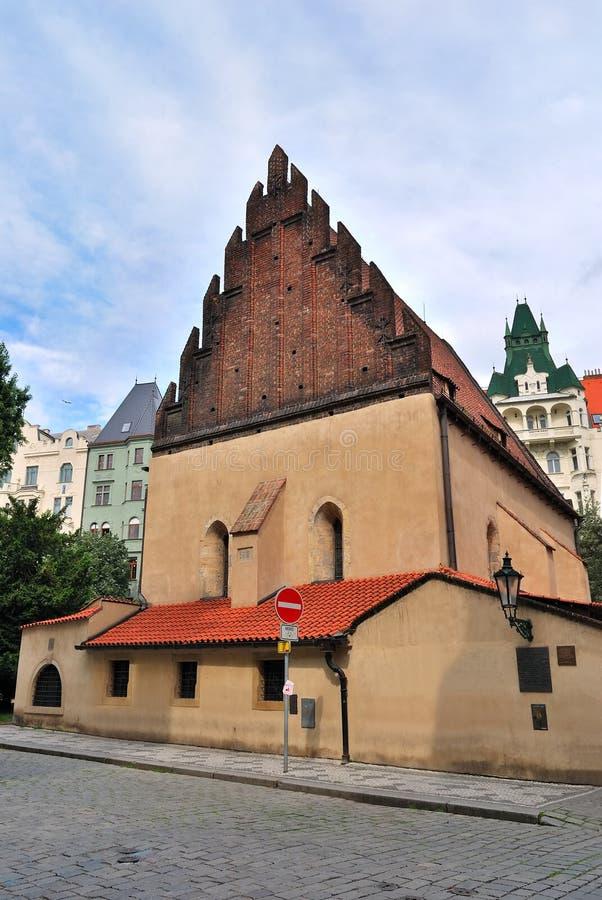 新的老布拉格犹太教堂 图库摄影