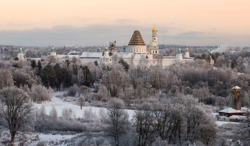 新的耶路撒冷修道院恢复 库存照片