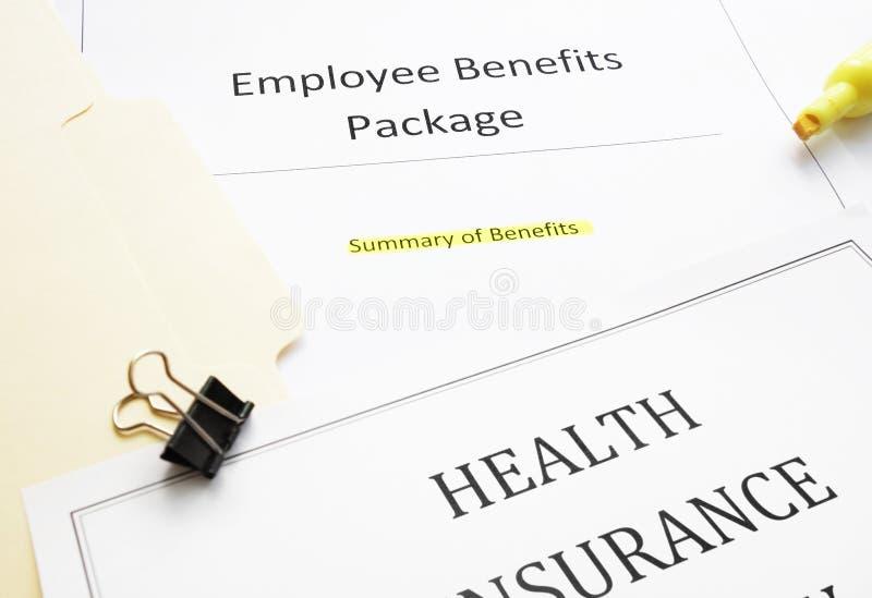 新的聘用有益于文件 免版税库存图片