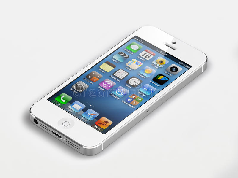 新的苹果iphone 5 皇族释放例证