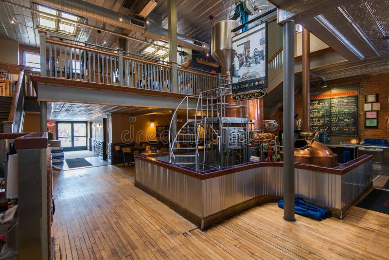 新的荷兰啤酒厂,密执安 库存图片