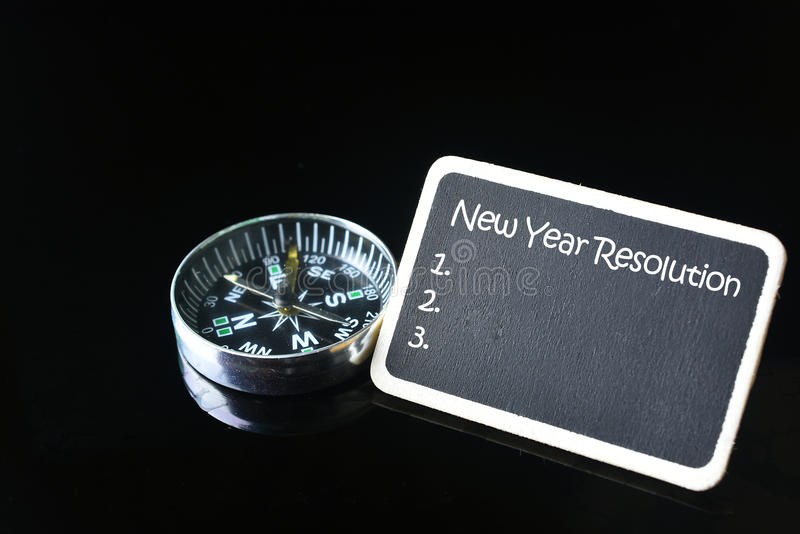 新的解决方法年 免版税图库摄影