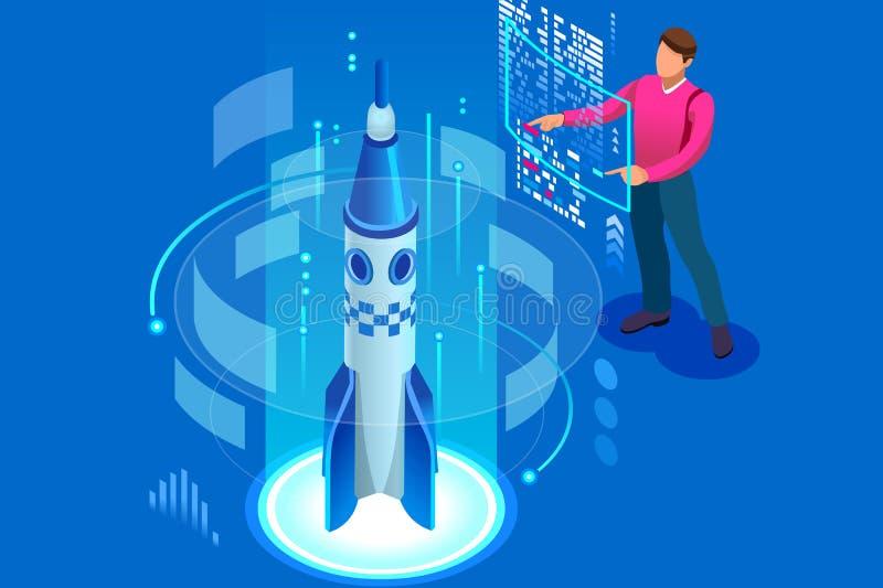 新的计划开始发射公司想法起动成功 库存例证