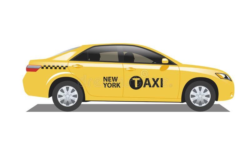 新的计程车约克 库存例证