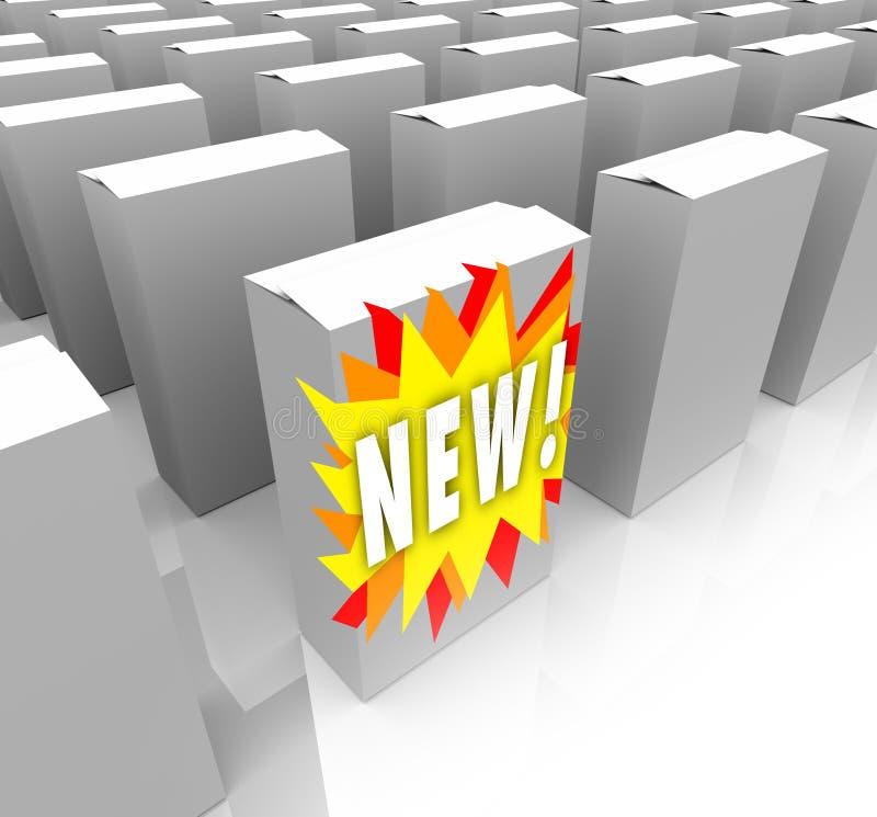 新的过期计划的产品立场 皇族释放例证