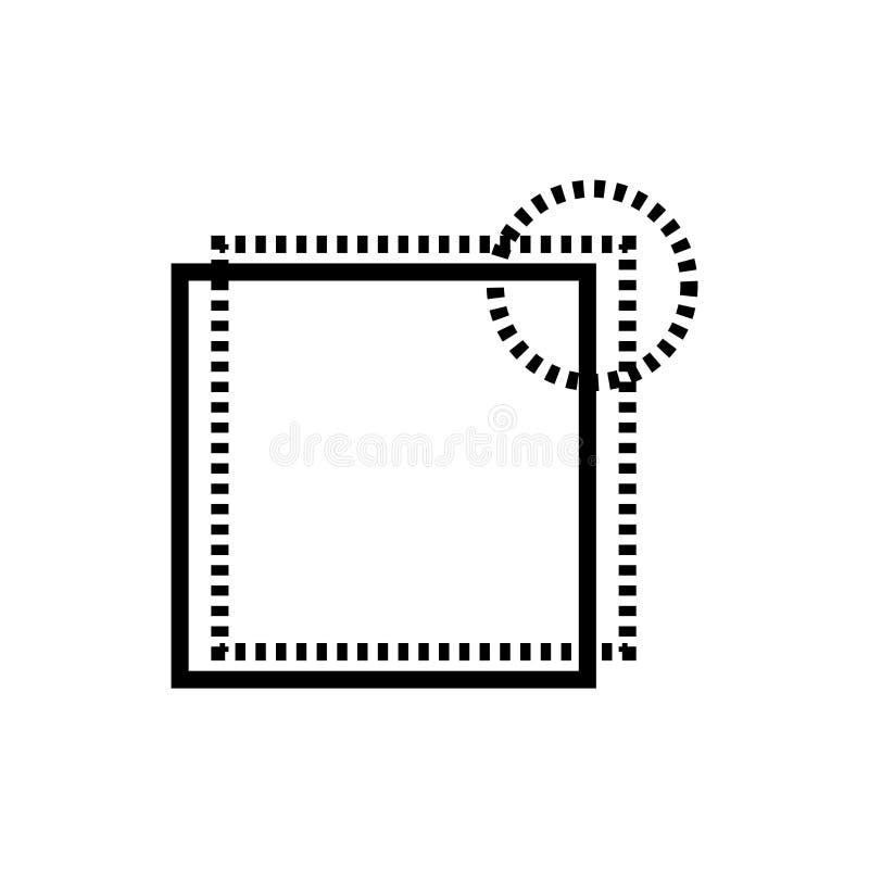 新的选项按钮象在白色背景隔绝的传染媒介标志和标志,新的选项按钮商标概念 向量例证