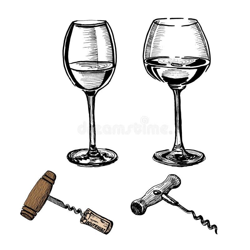 新的酒博若莱红葡萄酒nouveau 皇族释放例证
