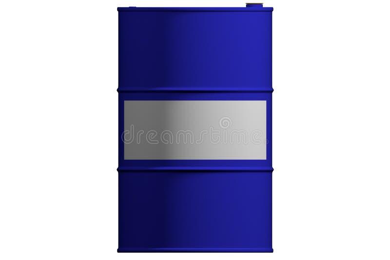 新的金属蓝色桶 查出 3d回报 皇族释放例证