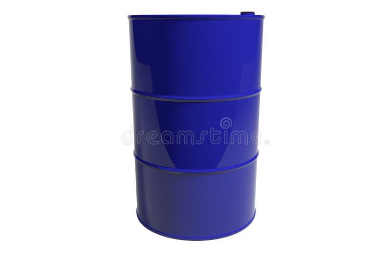 新的金属蓝色桶 查出 3d回报 库存例证