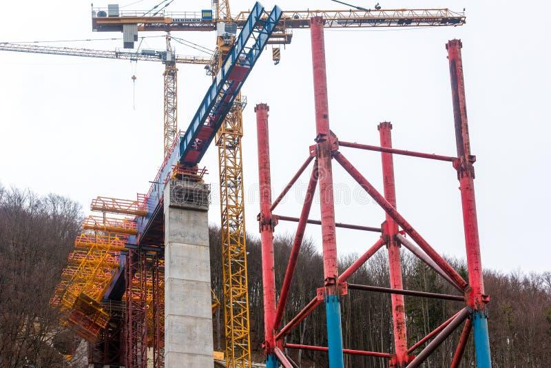 新的隧道建筑-斯图加特21,艾歇尔贝尔格 免版税图库摄影