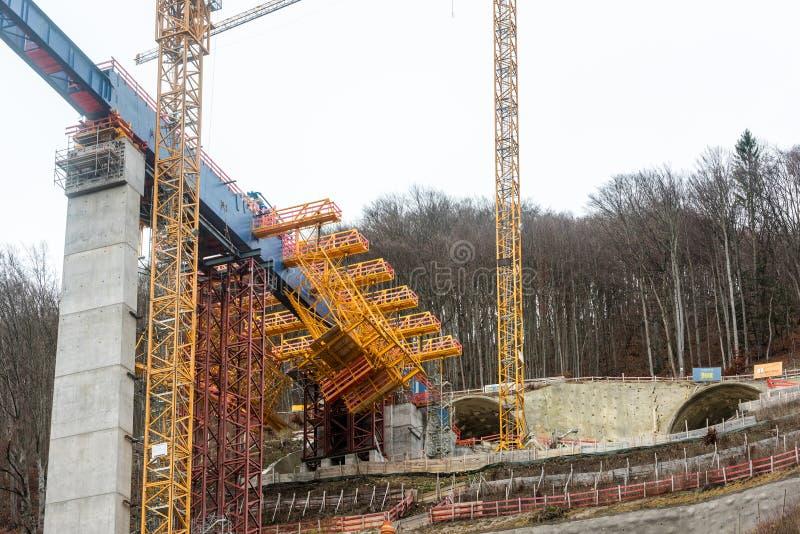 新的隧道建筑-斯图加特21,艾歇尔贝尔格 库存照片