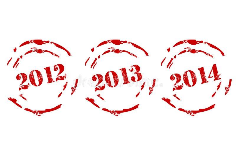 新的集标记年 向量例证