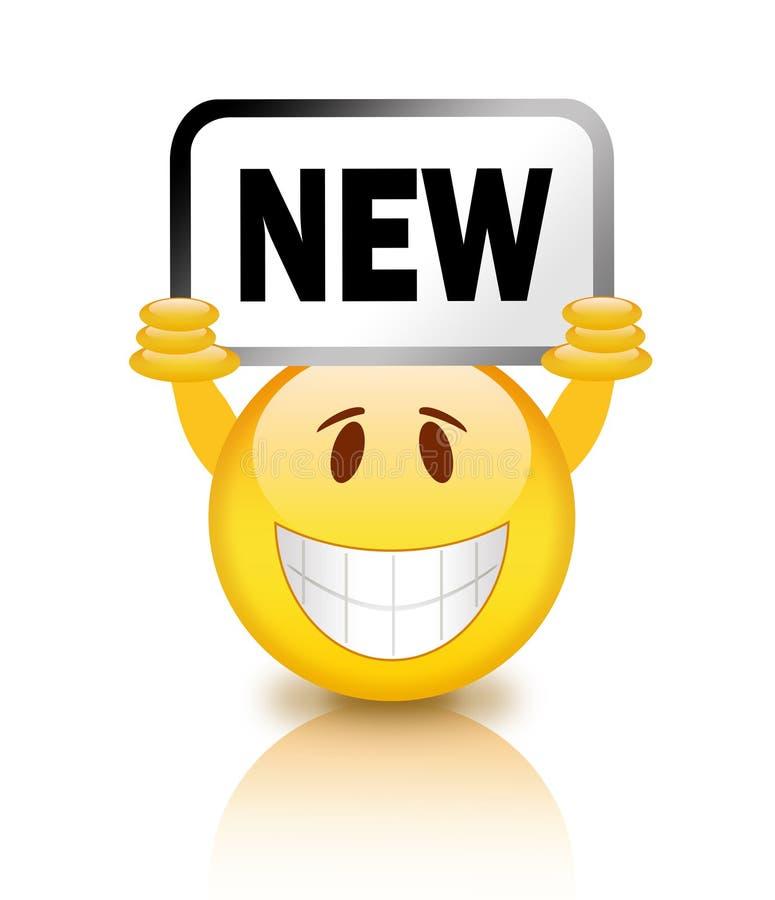 新的面带笑容 向量例证