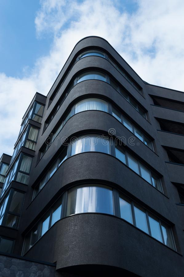 新的黑居民住房 免版税库存照片