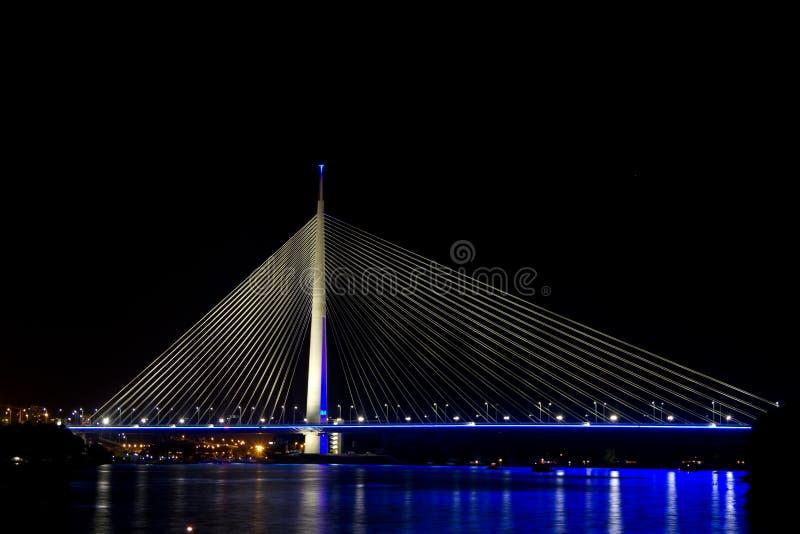 新的贝尔格莱德桥梁 库存图片
