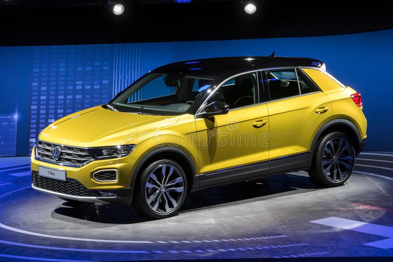 新的2018年大众T大鹏协定SUV汽车 免版税库存照片