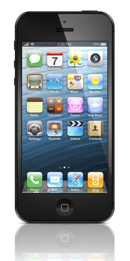 新的Apple iPhone 5 向量例证