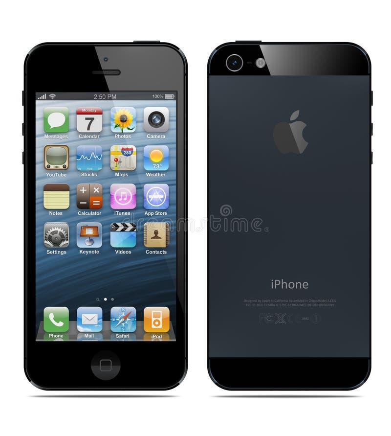新的Apple iPhone 5 皇族释放例证