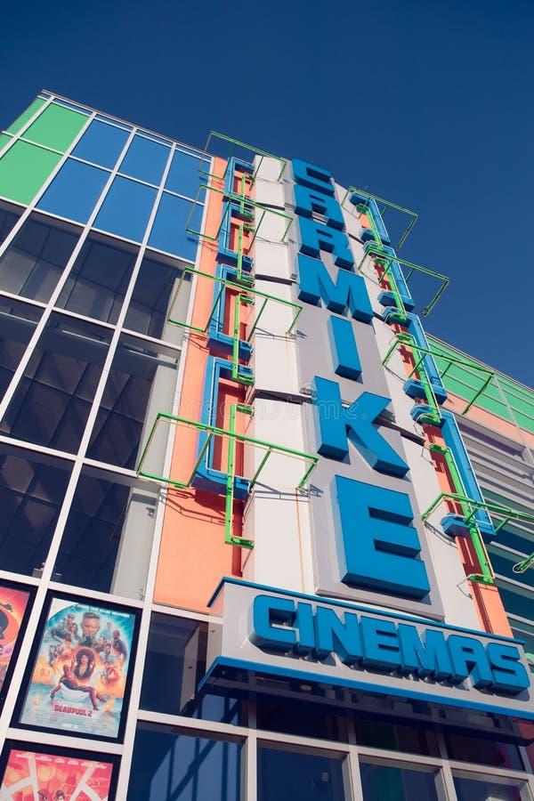 新的Carmike戏院复合的外部在加得奴加,田纳西附近的 库存图片