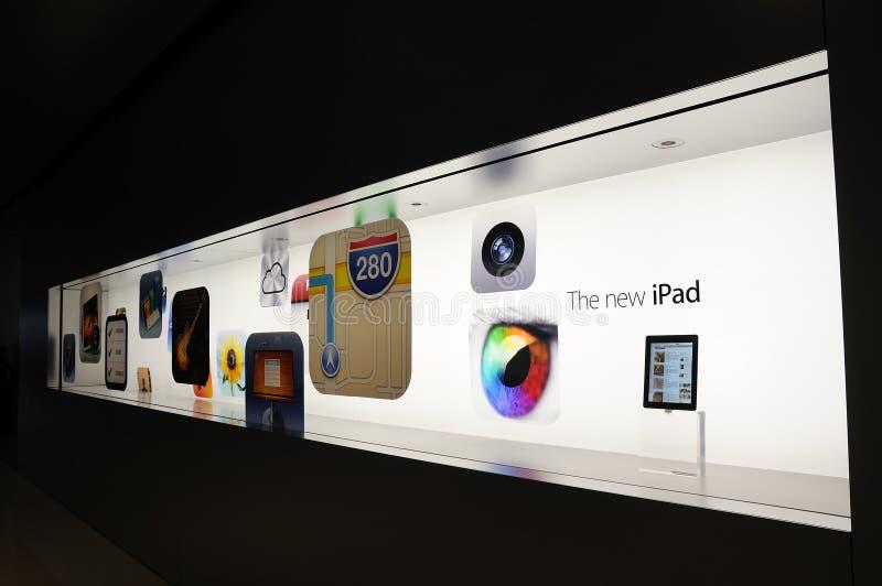 新的iPad的视窗显示 免版税图库摄影