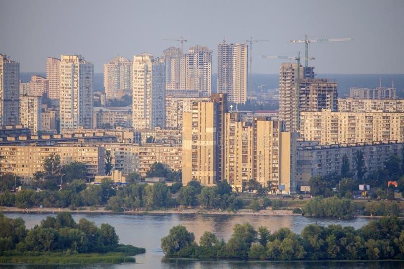 新的residencial区在Kyiv市。 图库摄影