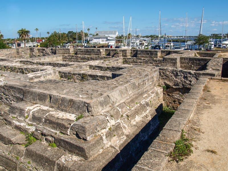 新的Smyrna海滩的老堡垒公园 库存图片