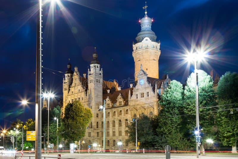 新的Townhall莱比锡 免版税库存图片