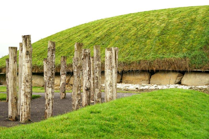 新石器时代的木木材henge 免版税库存照片