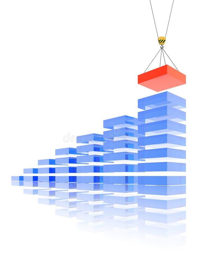 新砖的商业 库存例证