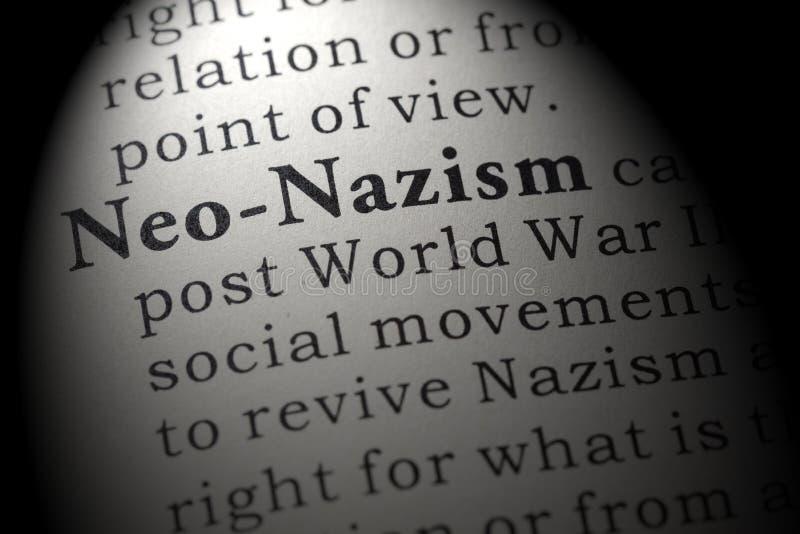 新纳粹的定义 库存照片
