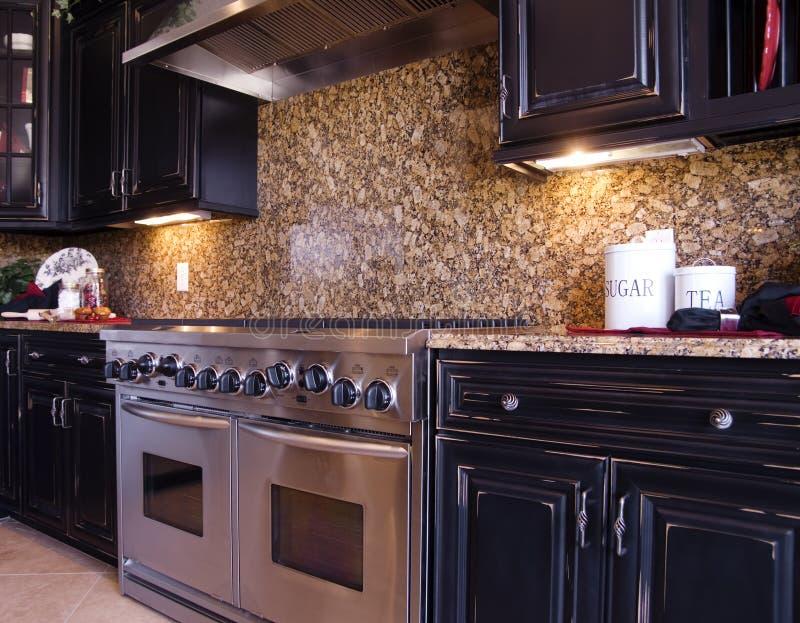 新美丽的厨房 免版税库存照片