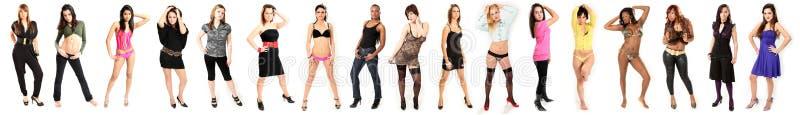 新美丽的时装模特儿的妇女 免版税库存图片