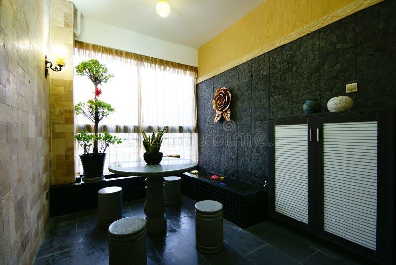 新美好的装饰的家 免版税库存照片