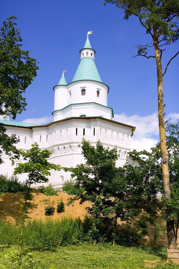 新耶路撒冷修道院设防塔发射孔 库存图片