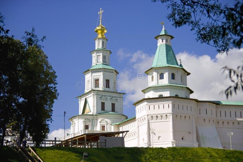 新耶路撒冷修道院钟楼Golden Dome 库存照片
