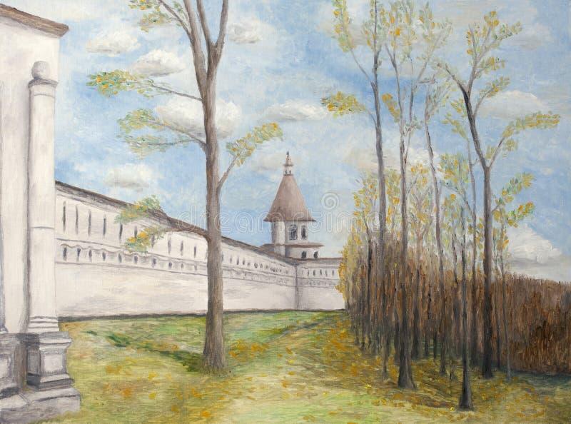 新耶路撒冷修道院绘画  图库摄影