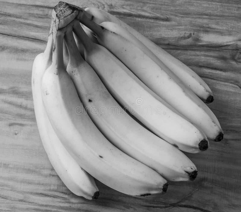 新自然香蕉束黑白样式 免版税库存照片