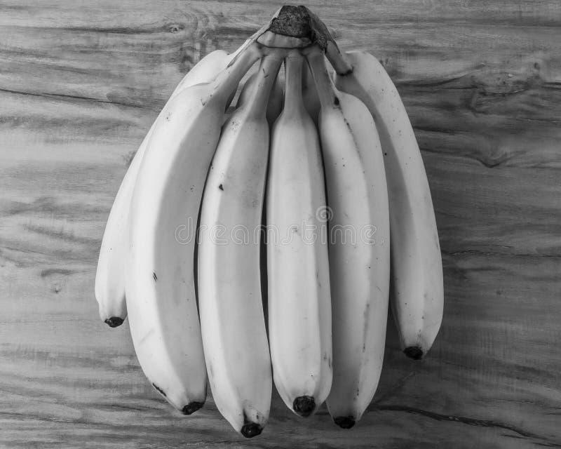 新自然香蕉束黑白样式 库存图片