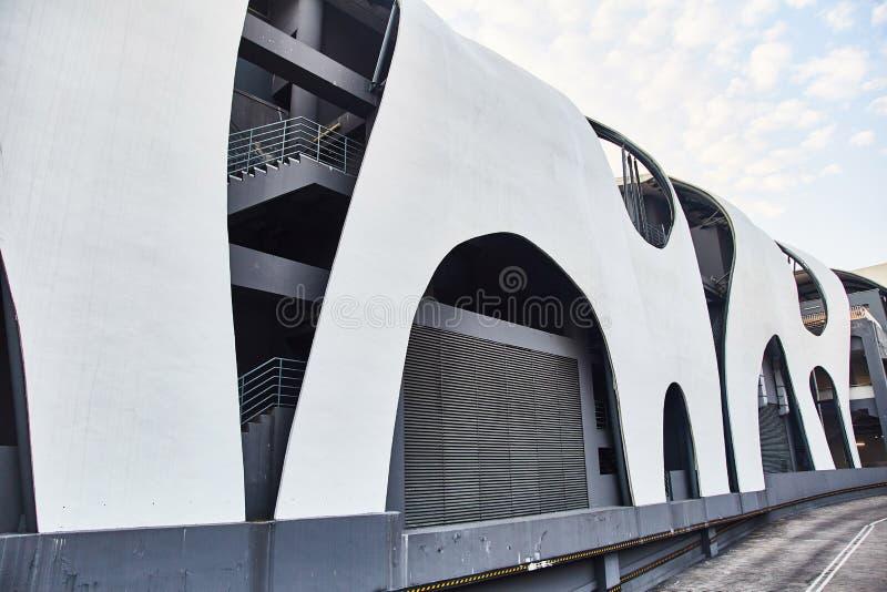 新艺术主义大厦在新加坡 r 库存图片
